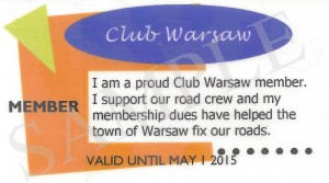 Save Money with the Warsaw Club Card